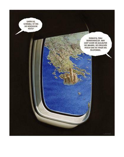 Im Anflug auf Athen
