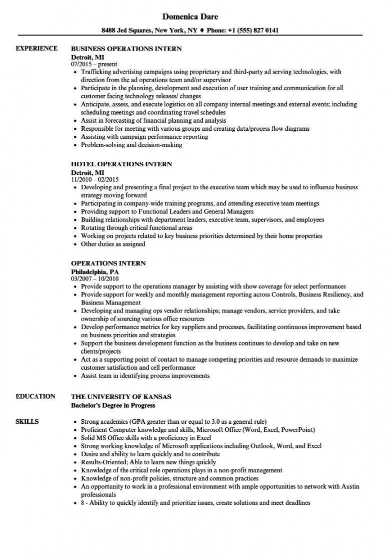 Editable intern job description template pdf sample in