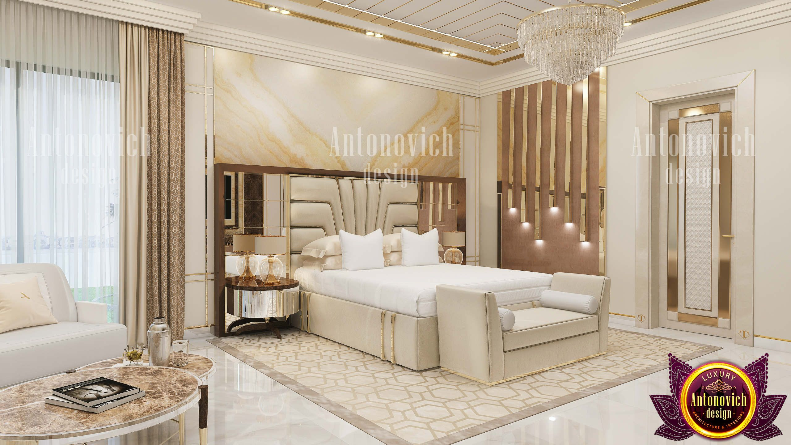 modern decoration of the bedroom from luxury antonovich