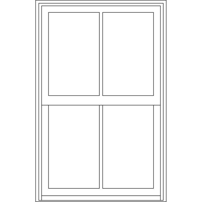 Rectangular 2 Wide 1 High Casement Windows Casement Double Hung Windows