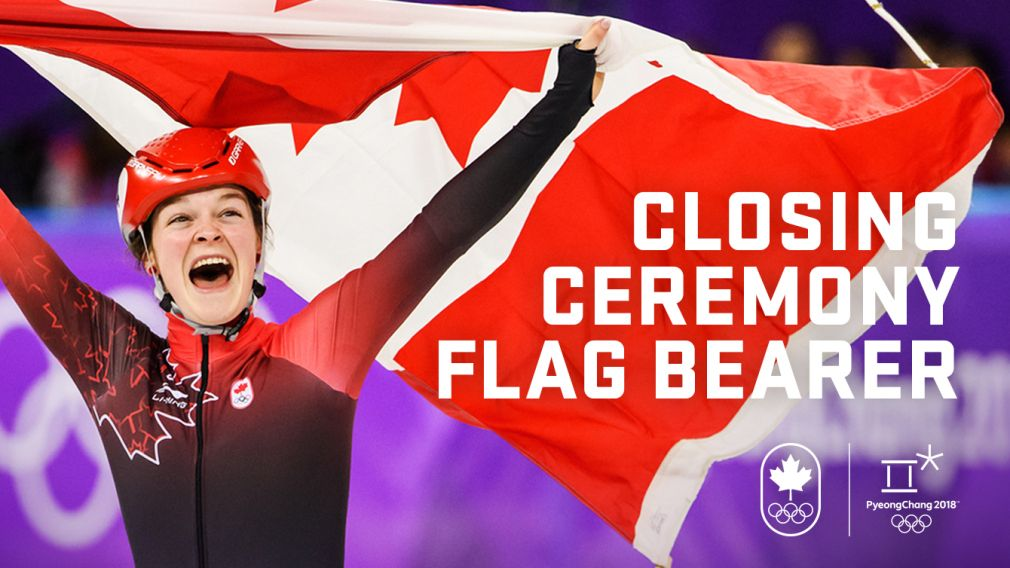 Closing Ceremony Flag Bearer Honours Bestowed On Boutin Canadian Flag Winter Olympics Paralympic Games