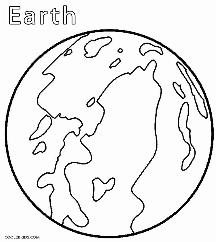 Printable Planet Coloring Pages For Kids Cool2bKids Space