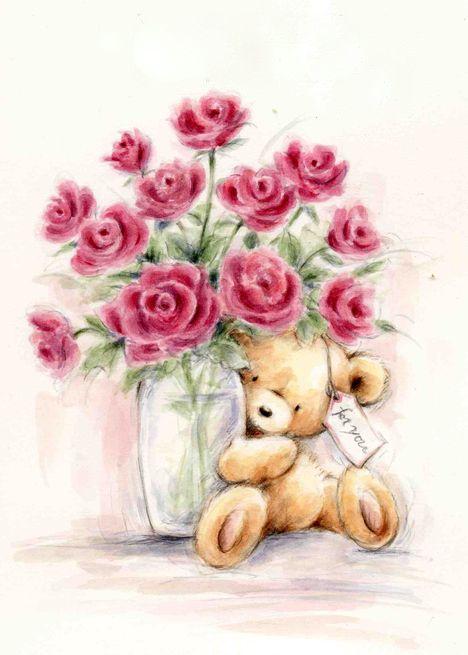 Wild Rose Studio ♥ | Dibujos, Imagenes de ositos tiernos, Dibujos bonitos