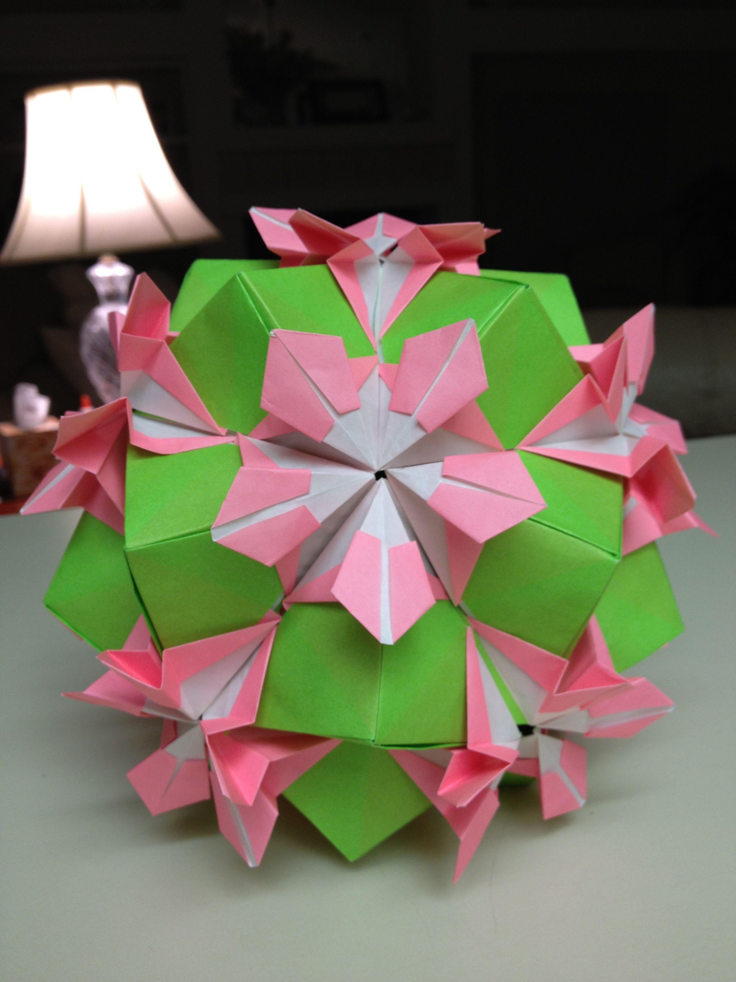 Pink Flower Kusudama Origami And Flower Ball Kusudamas Pinterest