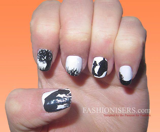 Cute Horse Nail Art Designs | Horse nail art, Horse nails and Horse