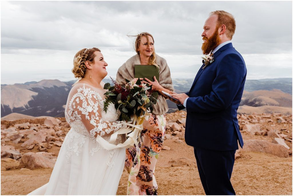 Pikes Peak Wedding On A 14 000 Foot Mountaintop