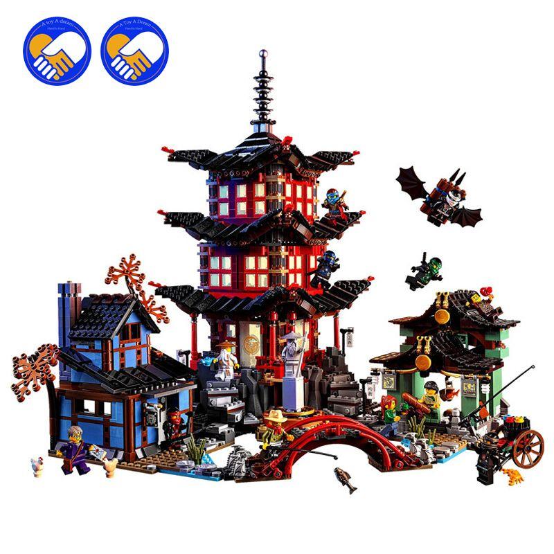 Ninja Temple of Airjitzu 737pcs Building Blocks Ninjagoes Kid Toys Smaller Bozhi