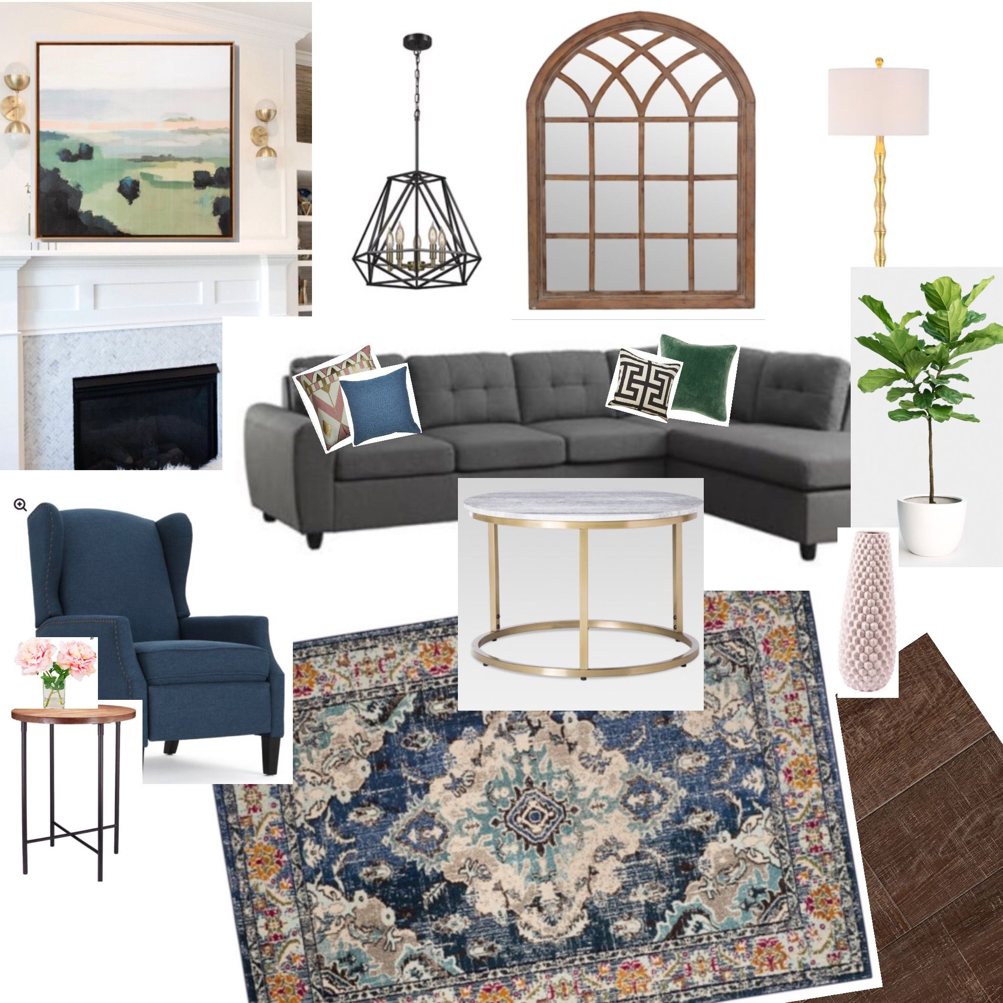 Best Living Room Refresh Mood Board Grey Sectional Navy Blue 400 x 300