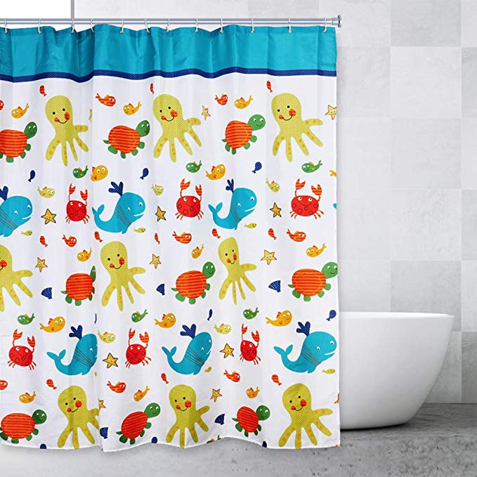 Sea Creatures Bathroom Shower Curtains For Boys And Girls