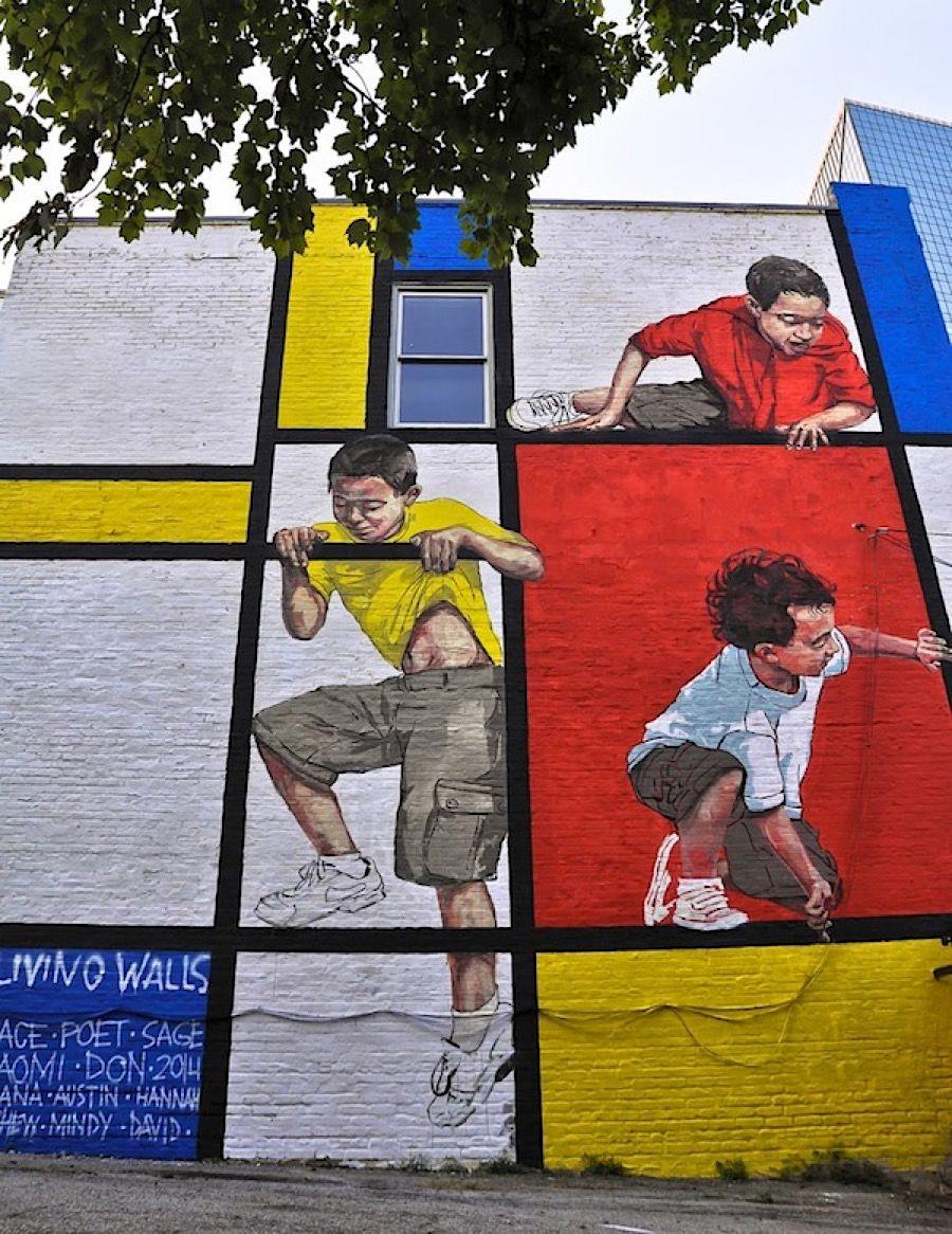 Street-Art-Day: Ernest Zacharevics Hommage an Piet Mondrian  Frage zum Street-Art-Day auf dem KlonBlog: Woher nehmen Street-Artists eigentlich ihre Ideen? Manche lassen sich vom Weltgeschehen oder politischen ... #streetart