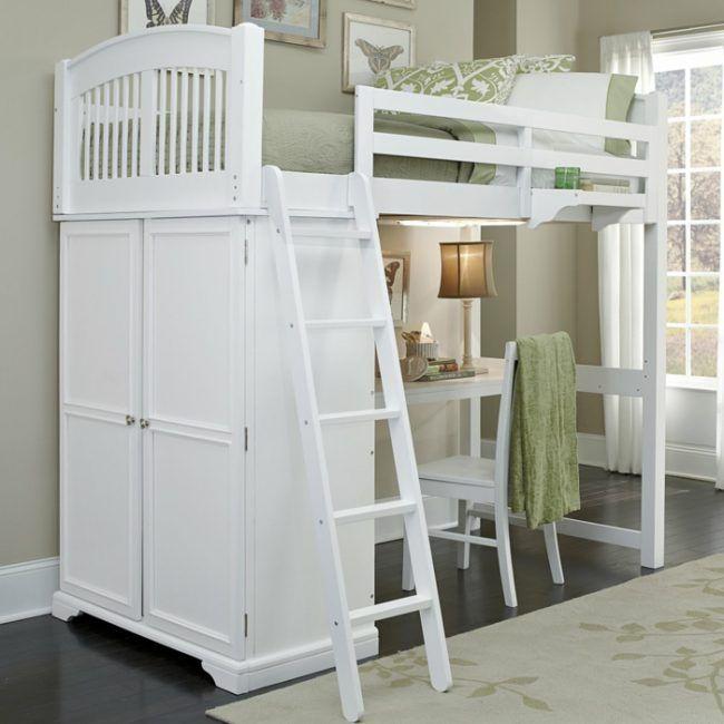 Kinderzimmermöbel Ideen Platzsparende Hochbetten