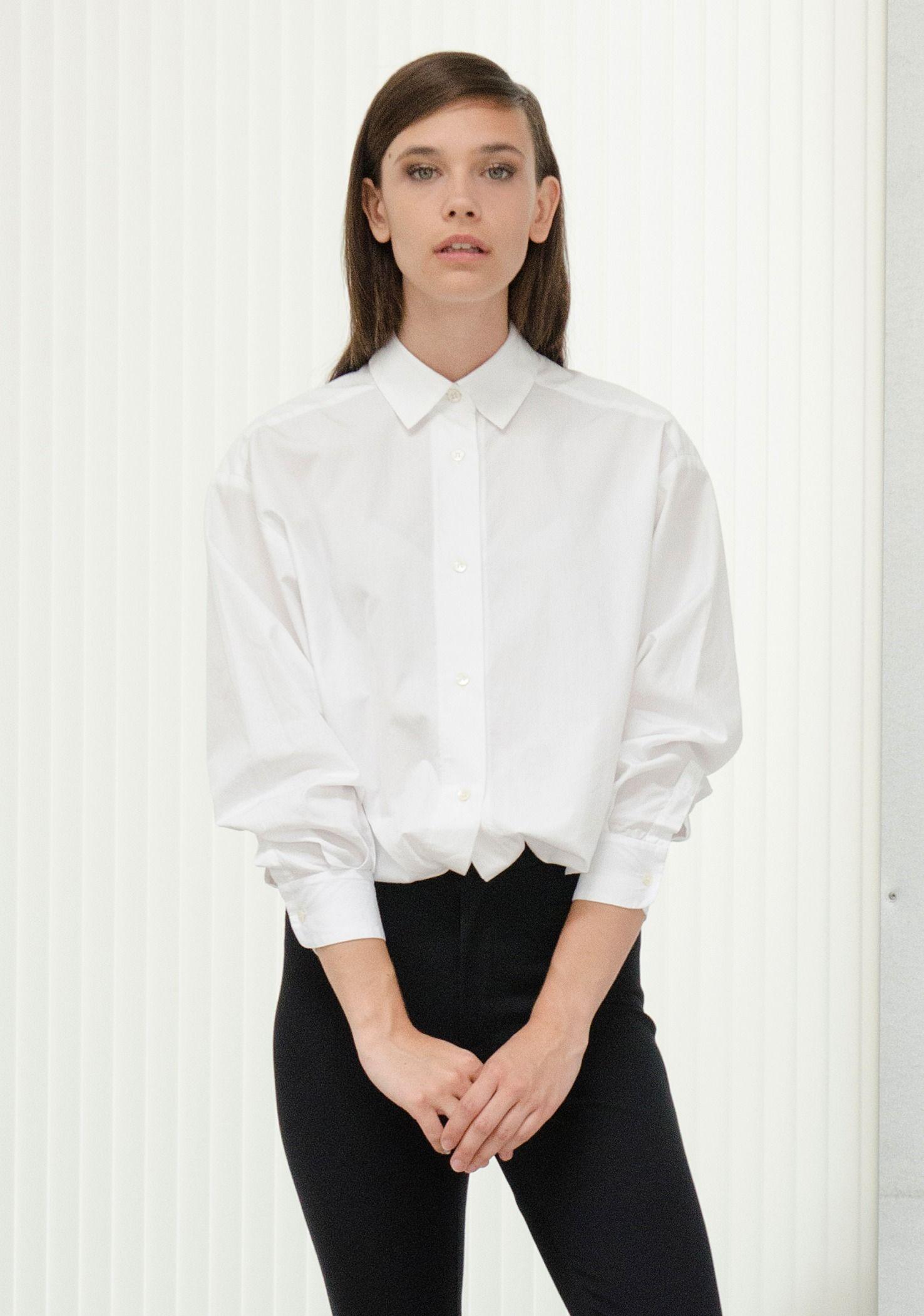 Jaimie/Cameron SHIRT White Skinny Gini Black Clothes
