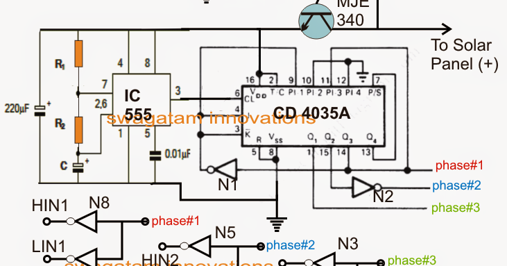 Electronic Circuit Projects Solar 3 Phase Inverter