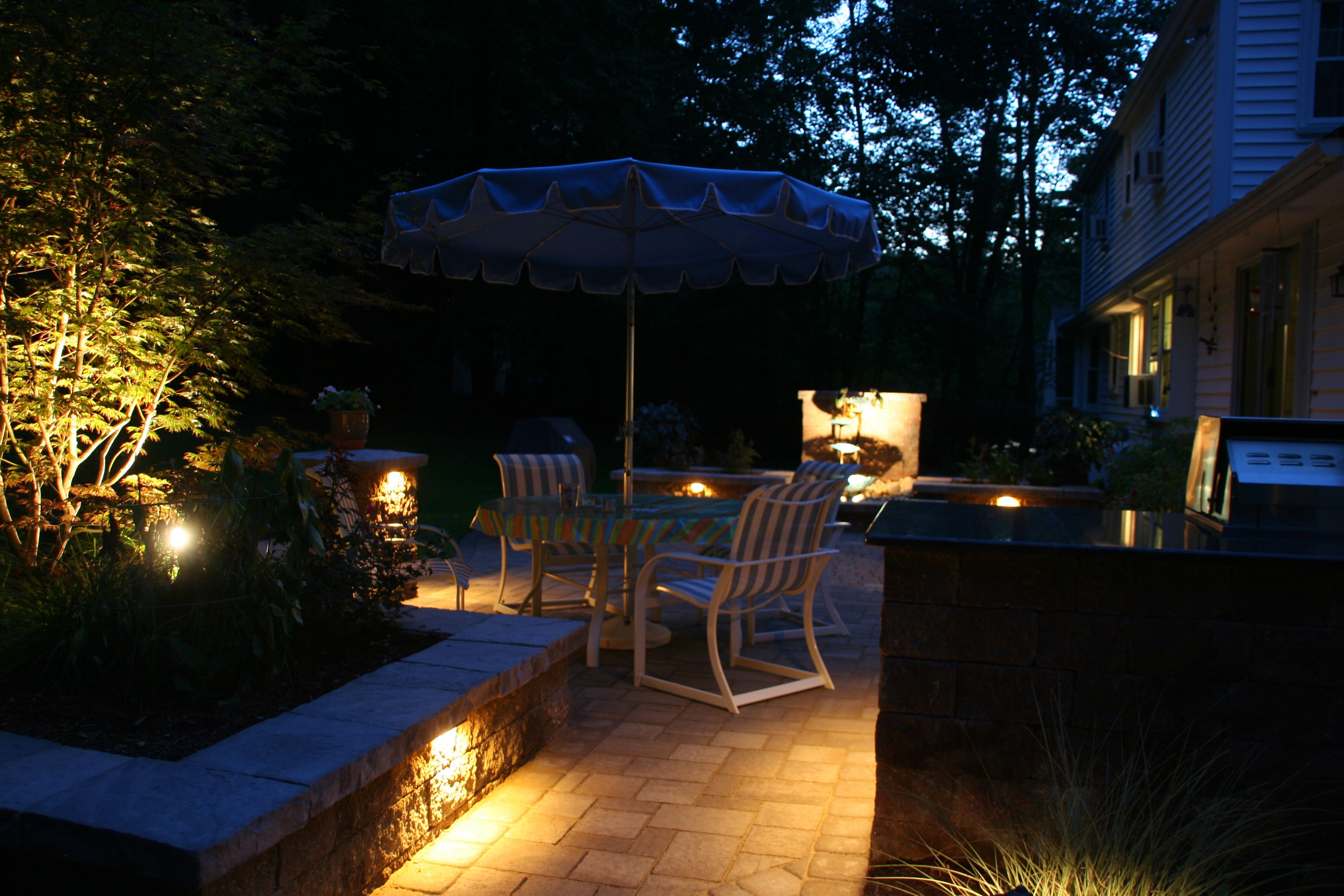Patio lighting Landscaping & Lighting Pinterest