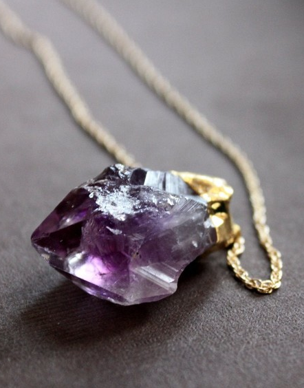 Raw amethyst necklace shiny pinterest raw amethyst amethyst raw amethyst necklace aloadofball Gallery