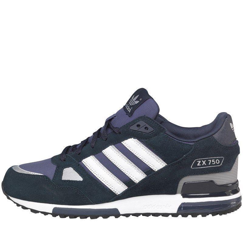 Adidas Zx 750 Original Herren Laufschuhe Blau Schwarz Weiß
