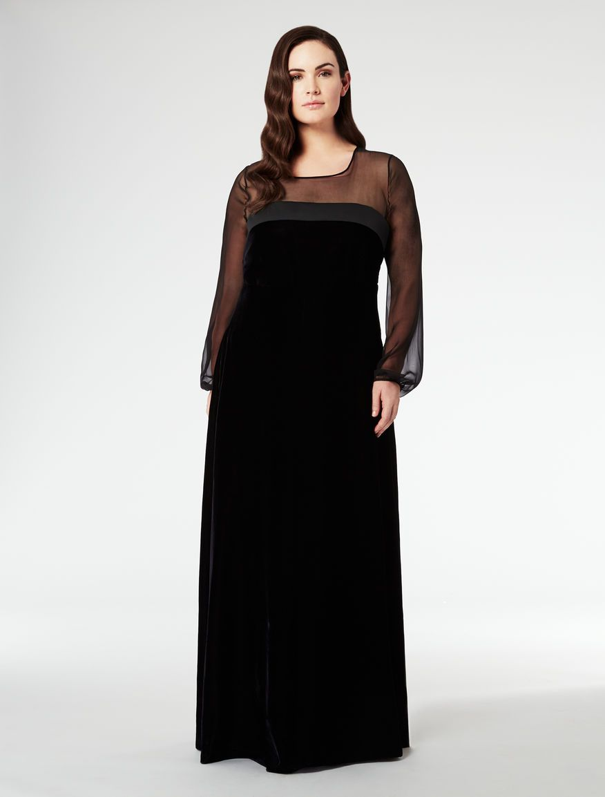 ea7b13299e7 Marina Rinaldi DISPARI black: Long velvet dress. | My Style ...