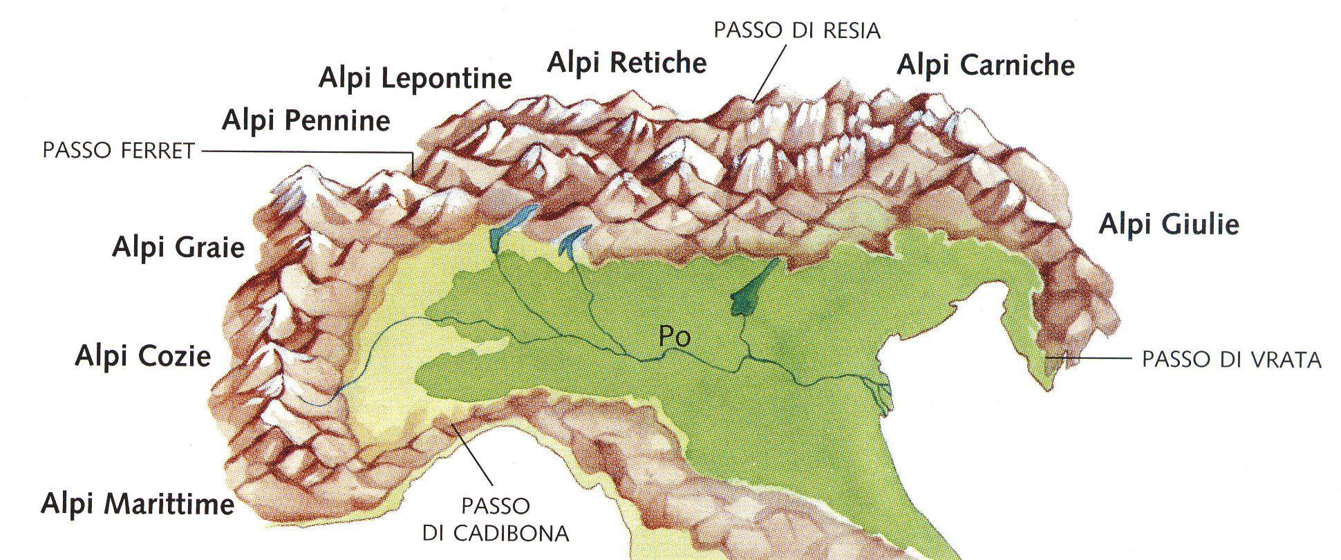 Alpi Cartina Fisica  Pieterduisenberg