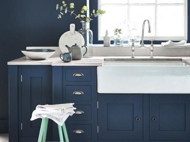 peinture bleu cuisine | Projets à essayer | Pinterest | Peinture ...