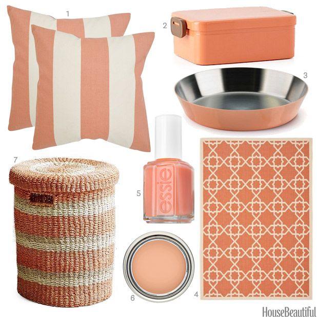 Peach Home Accessories Shadesofsummer