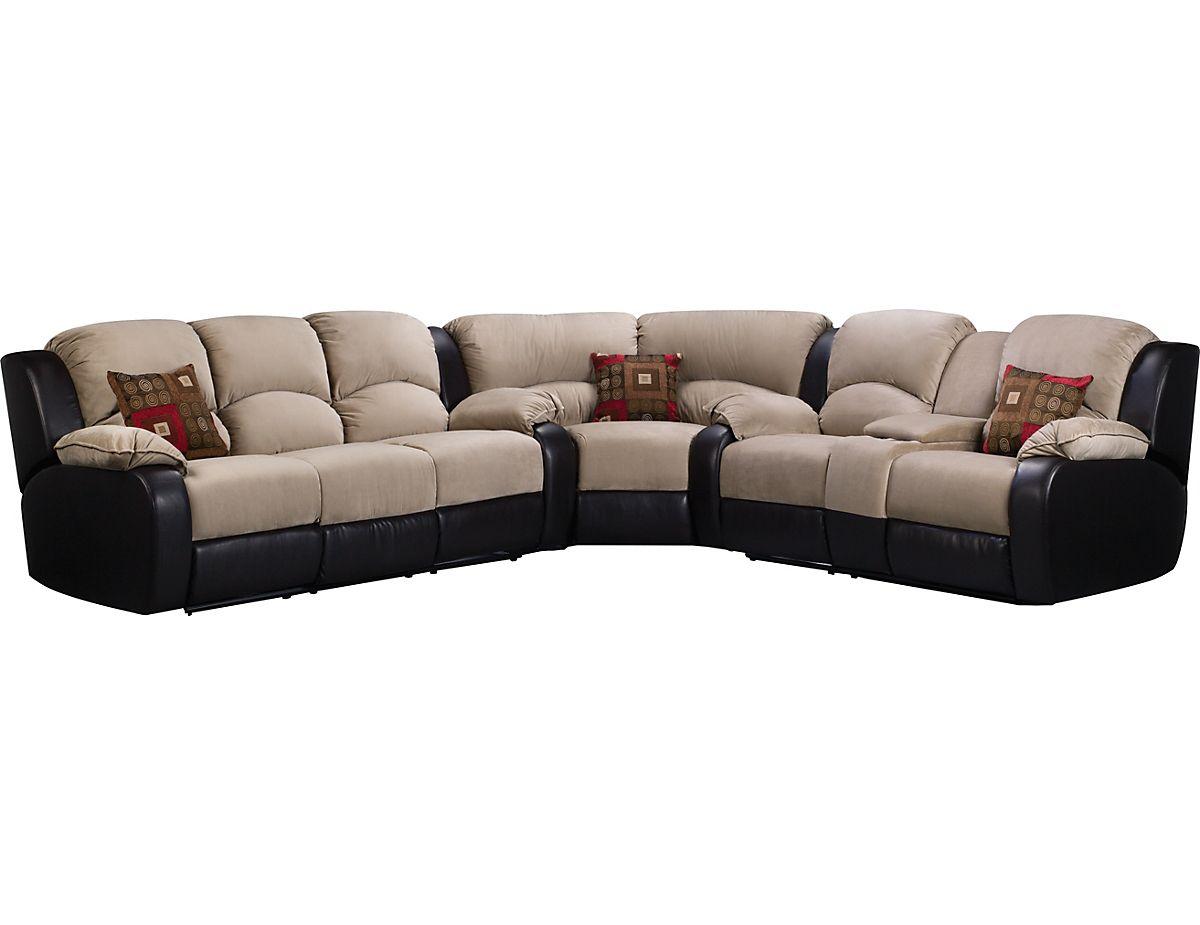 The Brick Living Room Furniture Tyson 3 Piece Mocha Sectional Tyson3pk3 The Brick Dining