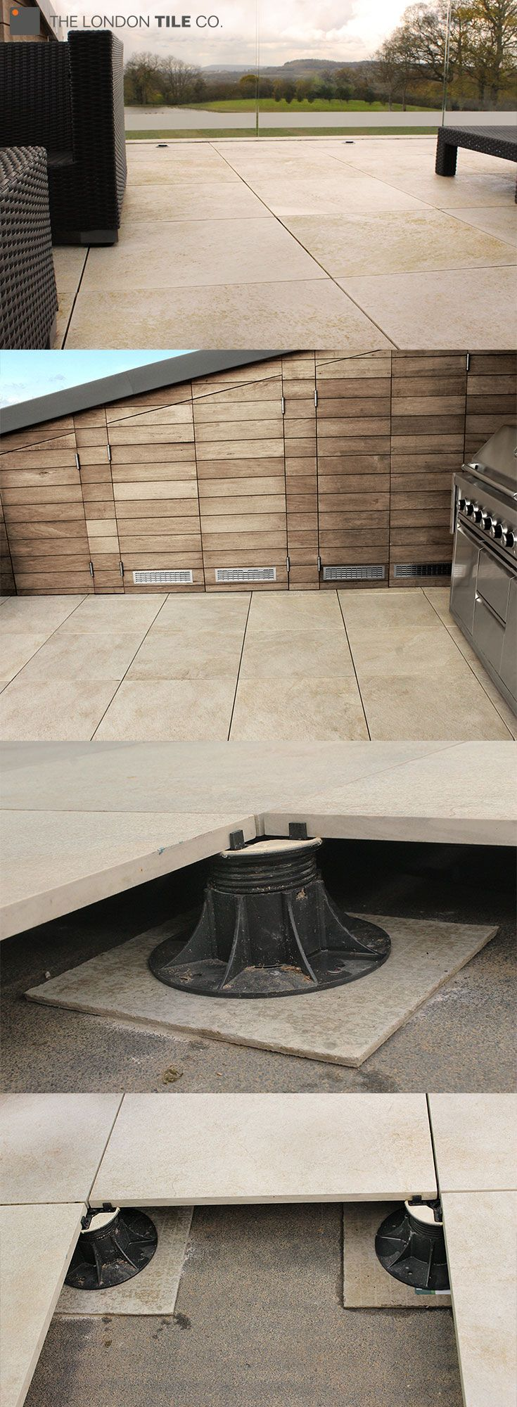 This stunning roof terrace was created using Valverdi 20mm thick outdoor  porcelain tiles and Eterno IvicaThis stunning roof terrace was created using Valverdi 20mm thick  . Porcelain Tiles For External Use. Home Design Ideas