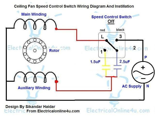 Ceiling Fan Motor Schematic Wiring Diagram | Esquemas