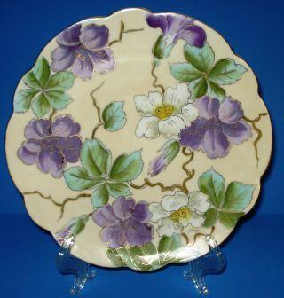 Antique Art Nouveau Porcelain Plate P H Leonard Vienna Austria Hp Floral Signed photo