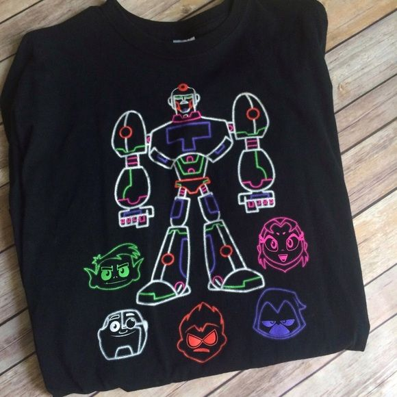 Teen Titans Shirt 100% cotton. Size is XL. Sorry, not interested in trades. Tops Tees - Short Sleeve