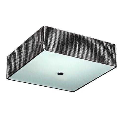 S`luce V28312/1C400 Bling - Lámpara cuadrada de techo (4 puntos de luz, 40 x 40 cm), color negro de Licht-Design Skapetze GmbH & Co KG, http://www.amazon.es/gp/product/B0034BHDYI/ref=cm_sw_r_pi_alp_wt5irb0Y2M3FJ