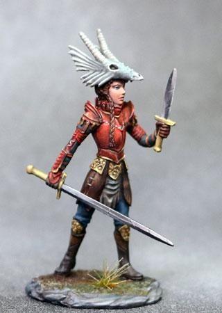 Dark Sword Miniatures Dsm7625 Female Warrior With Dragon Helm 28mm Warrior Woman Warrior
