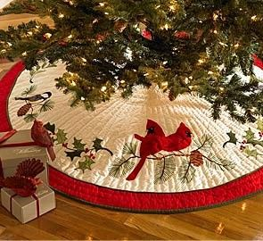 Holiday Songbird Quilted Tree Skirt Diy Christmas Tree Skirt Christmas Tree Skirts Patterns Xmas Tree Skirts