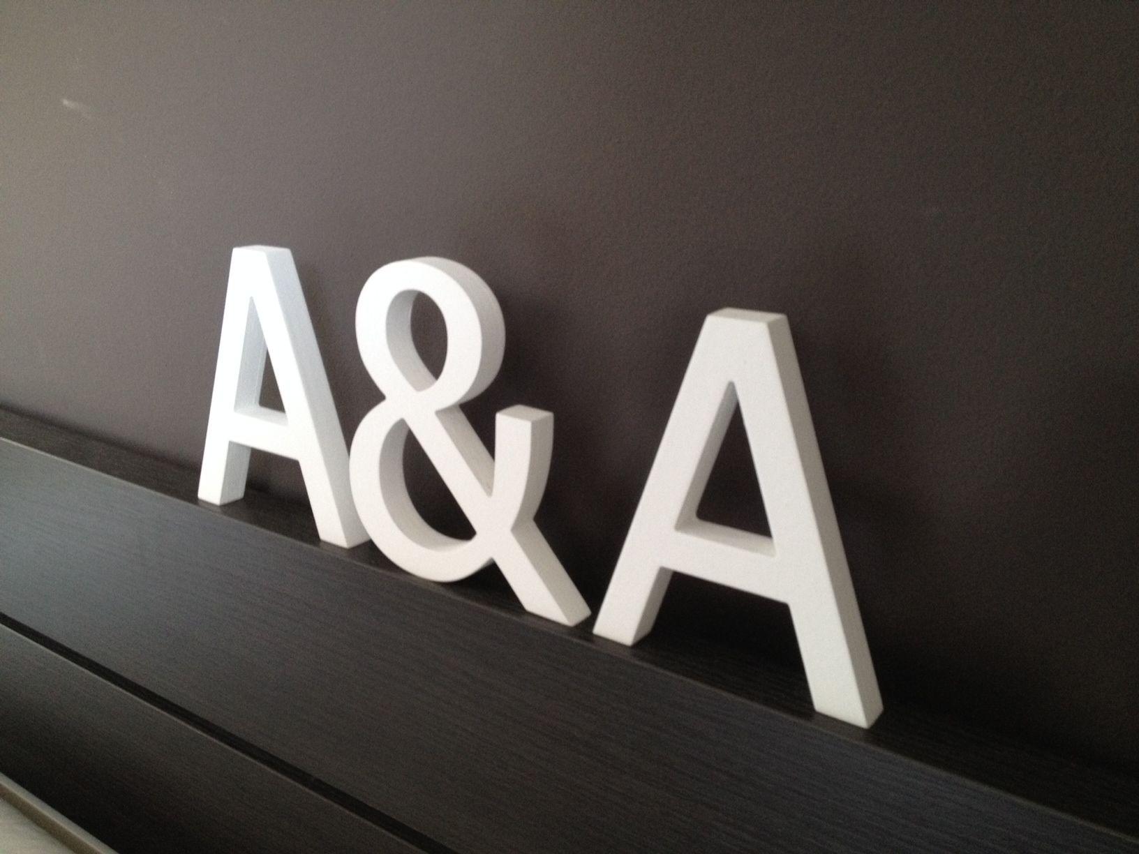 iniciales de madera para decoracin de bodas san valentn regalo de aniversario