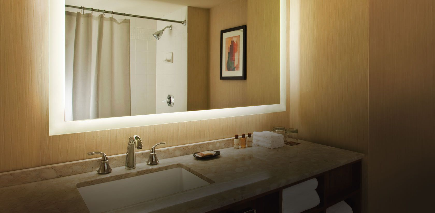 S Ura Lumination Collection Lighted Mirror In Bathroom Home