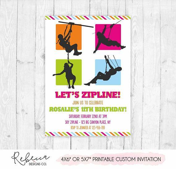 Zipline invitation zipline birthday invitation printable zip line zipline invitation zipline birthday invitation printable zip line party invitation girl zip line birthday invite boy stopboris Gallery