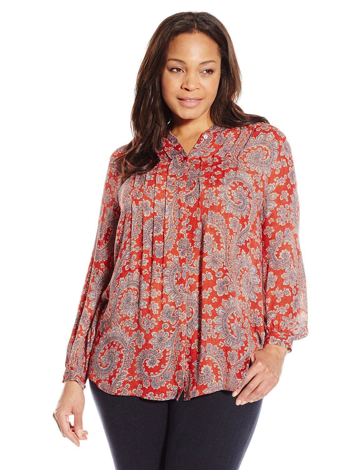 aa7d637cdf2 Plus Size Womens Paisley Tops