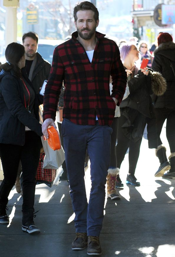 """Ryan Reynolds Perfectly Pulls Off the """"Lumbersexual"""" Trend at the Sundance Film Festival  #InStyle"""