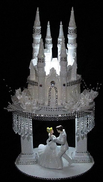 Details about Lighted Cinderella Castle Cake Topper in ...