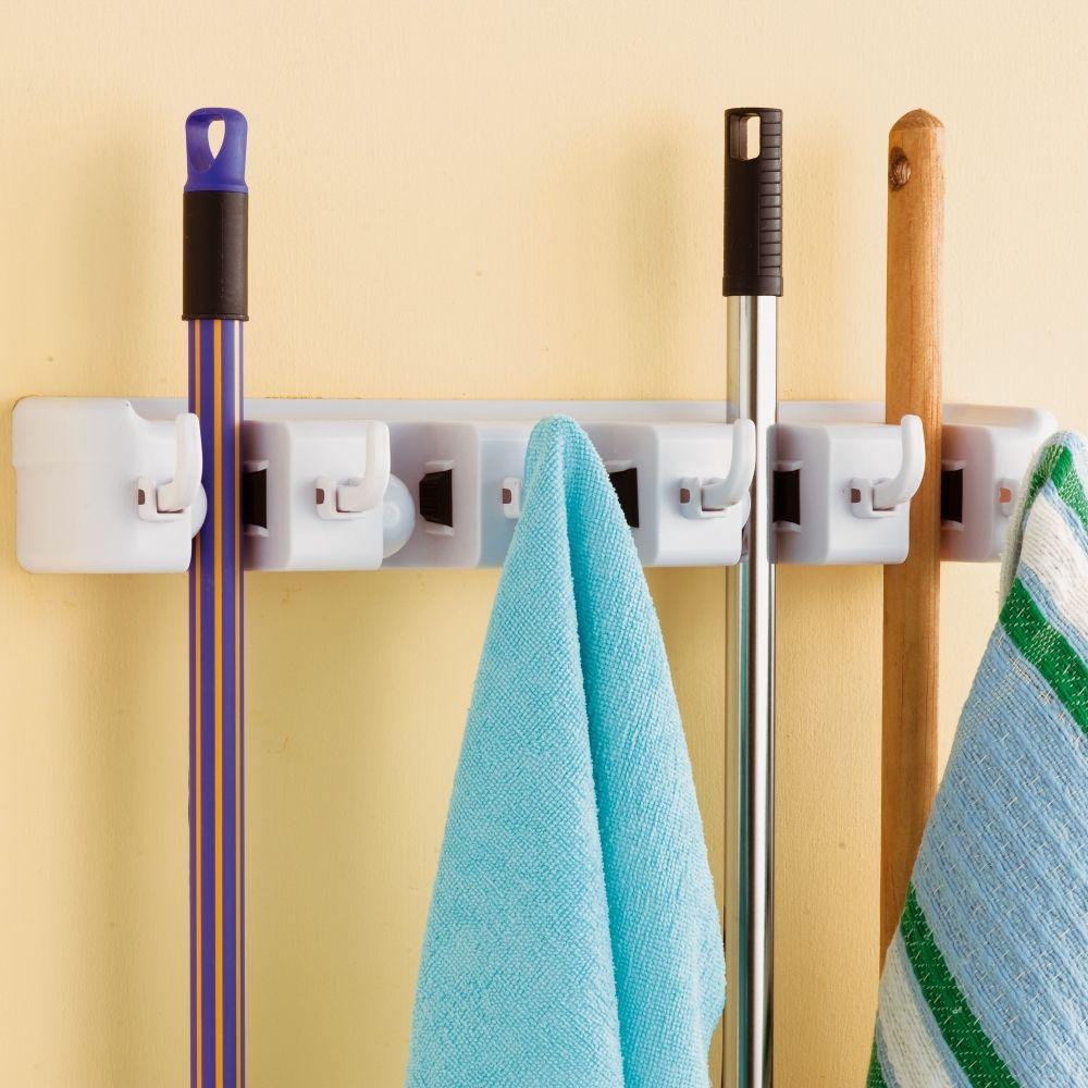 le range balais et torchons 44x7x10 pour le placard balais et pour le garage pour les. Black Bedroom Furniture Sets. Home Design Ideas