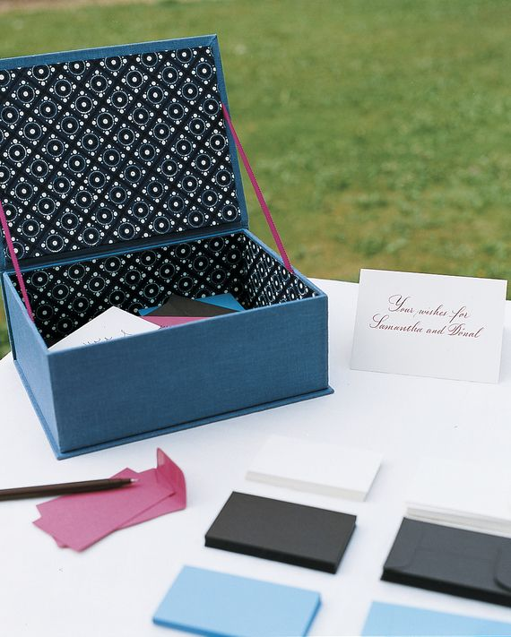 Guests Penned Messages To The Bride And Groom Samantha Donal On Colorful Note Cards Dropped Them In A Keepsake Box At This Wedding England