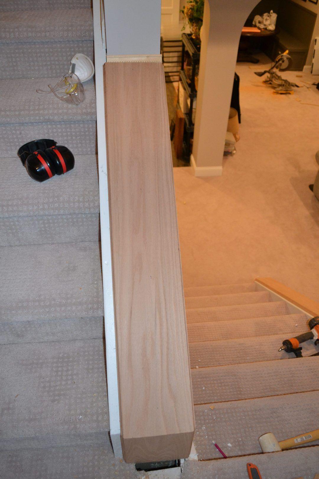 Diy banisters diy stair railing diy stairs wood railing