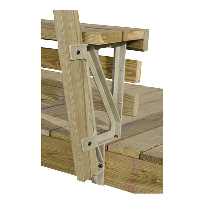2x4 Basics Deck Bench Brackets Sand 2 Pk Model 90168