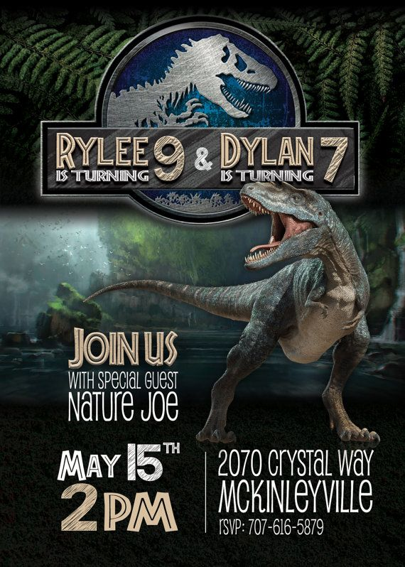 Jurassic World Invitation By DHDigitalDesign