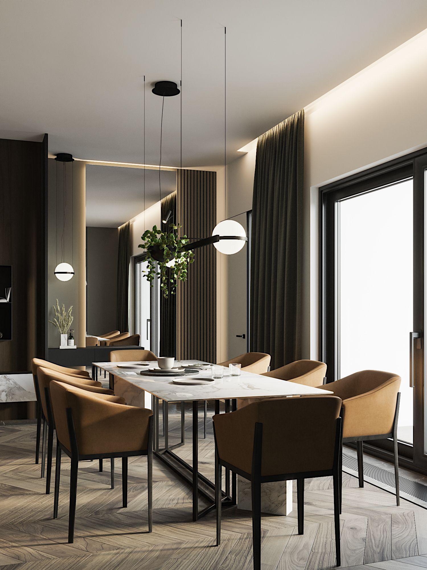 Dark Interior In Modern Style Minimalism Interior Interior