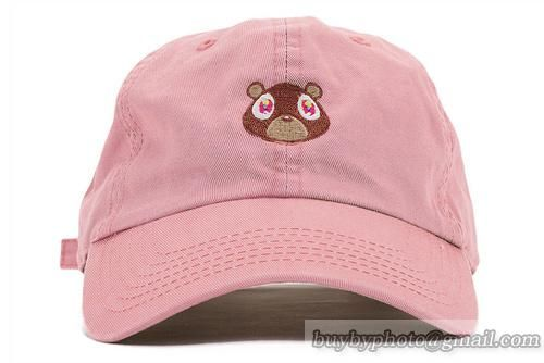 72129c3543e Kanye West Bear Cap Hiphop Caps Pink  snapbacks  snapbackhats  hats  popular