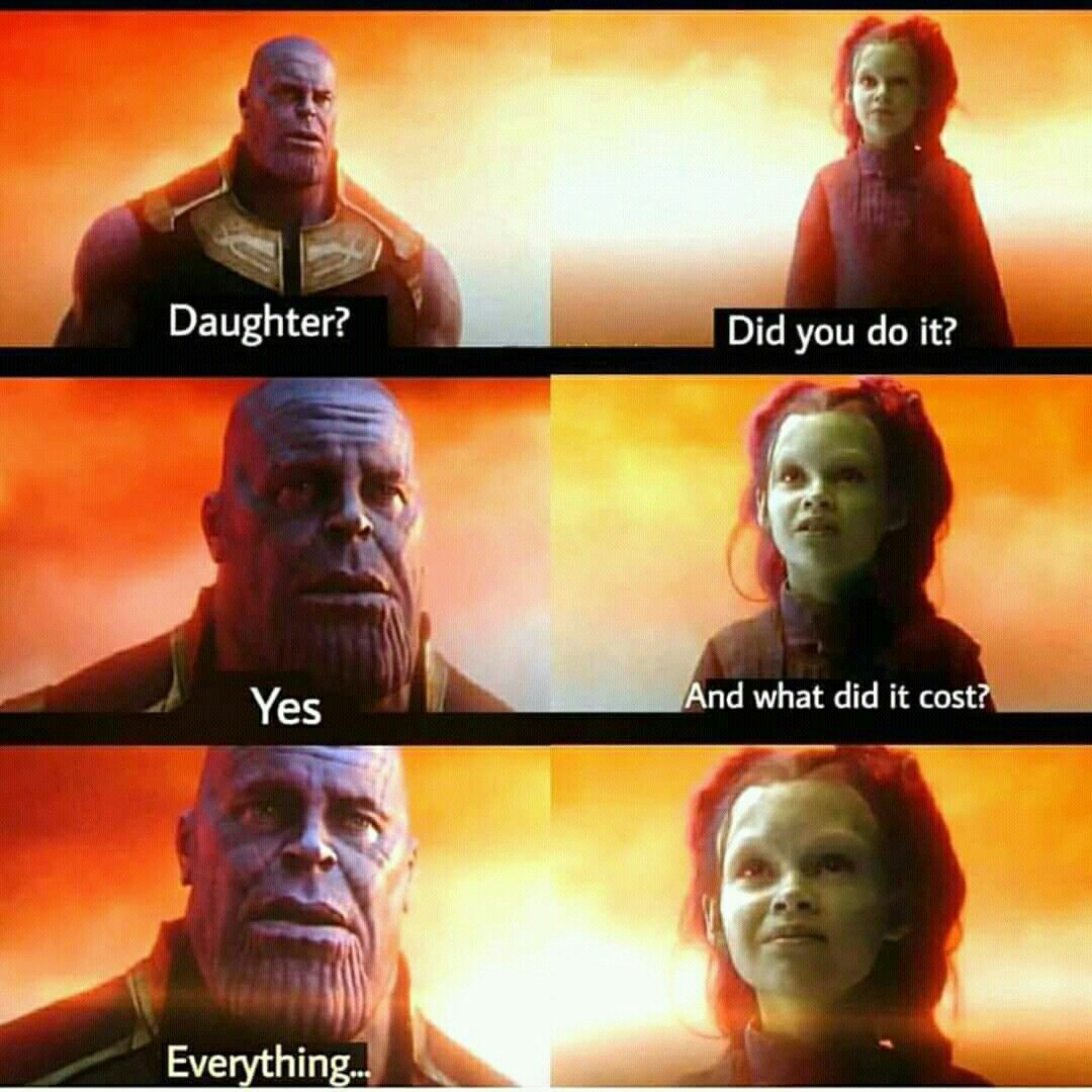 I Don T Care That Thanos Was Emotional I Will Never