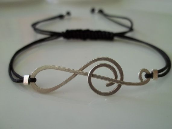 The Music treble clef Sterling silver handmade by ePandora on Etsy, $26.00