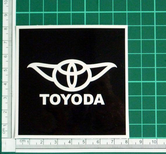 Toyoda funny yoda star wars logo parody sticker by thestickergal 3 00