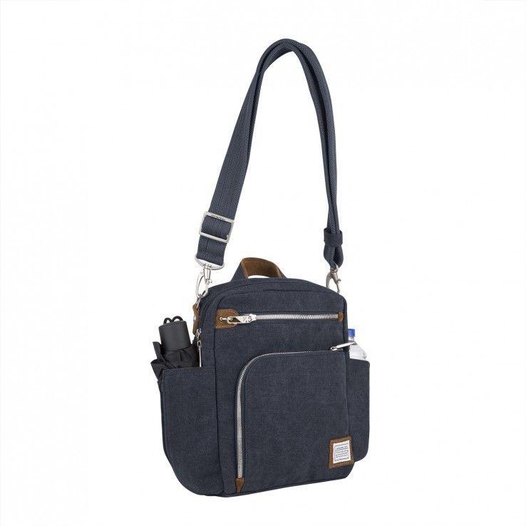 e72e630408 Travelon Heritage Anti-theft Tour Vertical Crossbody Messenger Bag (Blue)