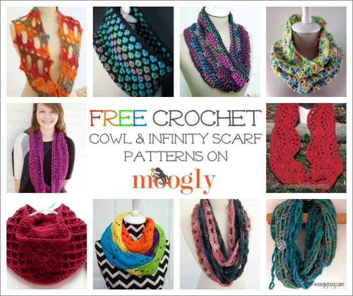 10 Free #Crochet Cowl and Infinity Scarf Patterns on Moogly ...
